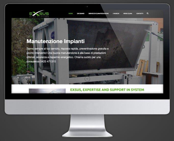 Il nuovo sito di Exsus srl Rovigo internet realizzato da Diada Agenzia di Comunicazione