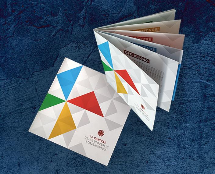 Company profile caritas adria e rovigo grafica di Diada